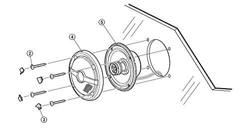 Sony XSMP1621 6 1/2-Inch coaxial 2-way Marine Speaker by Sony (Image #5)
