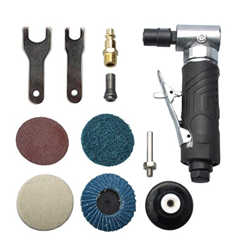 Purchase 1/4 inch angle air die grinder with 4 pcs 2″ roll lock sanding discs