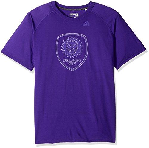 MLS Orlando City FC Adult Men Full Time Ulimate S/Tee, Medium, Regal (Soccer Mens Tee)