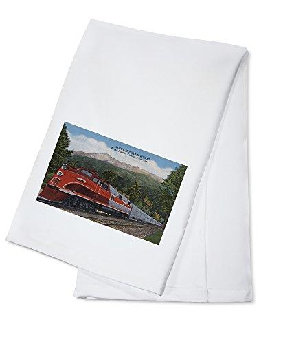 (OKSLO Rocky mt. rocket (train), pikes peak, colorado (100% cotton towel) model d954)