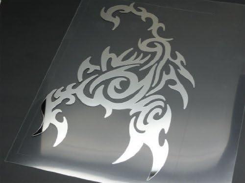 トライバルカッティングステッカー スコーピオンB 鏡面 クロームミラー