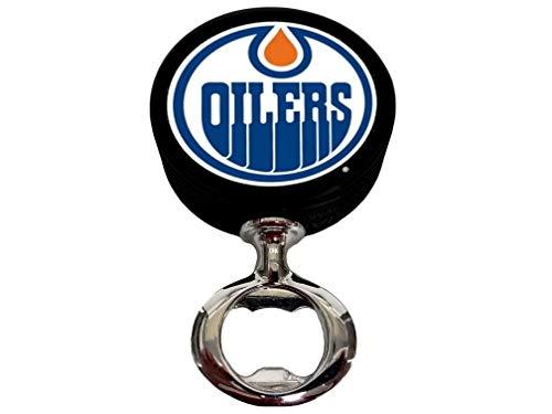 EBINGERS PLACE Edmonton Oilers Fulcrum Series Hockey Puck Bottle Opener ()