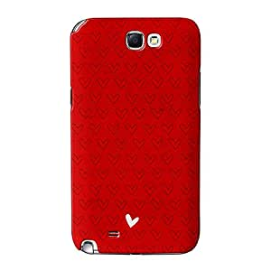 Cute Little Corazón Mínimo en rojo Full Wrap 3d Printed Case, funda carcasa para Samsung Galaxy Note 2de alta calidad de UltraCases