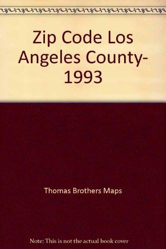 Zip County Los Map Code Angeles - Zip Code Los Angeles County, 1993