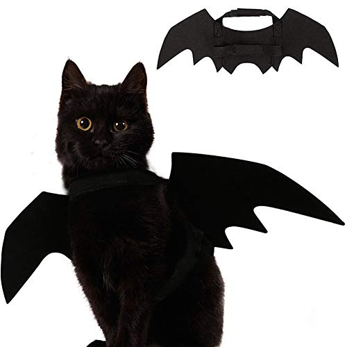Ehdching Cat Costume Halloween Pet Bat Wings Cat Dog Costume ()