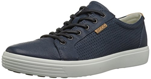 ECCO Men's Soft 7 Perforated Tie Fashion Sneaker,navy,43 EU/9-9.5 M US