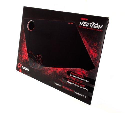Ozone Neutron Negro - Alfombrilla de ratón (Negro, Imagen, Caucho, 413 mm, 290 mm, 4 mm)
