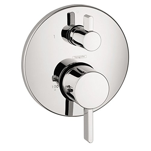 Hansgrohe 04231000 S Thermostatic Trim With Volume Control And Diverter with Glory Glaze Cleaner and Polish, Chrome ()