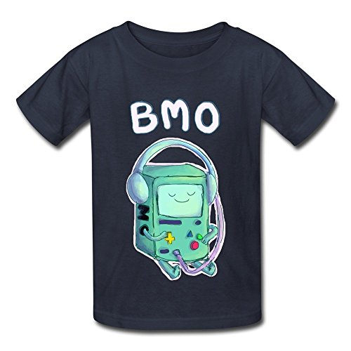 Kazzar Kid's BMO Chilling Adventure Time Round Collar T Shirt M