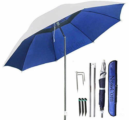 NEWCOM Portable Sun Shade Umbrella, Inclined, Heat Insulation, Antiultraviolet Function, Commonly Used In Garden, Beaches, Fishing Essential (Umbrellas Game Garden)