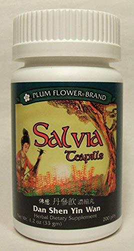 (Salvia Teapills (Dan Shen Yin Wan), 200 ct, Plum Flower )