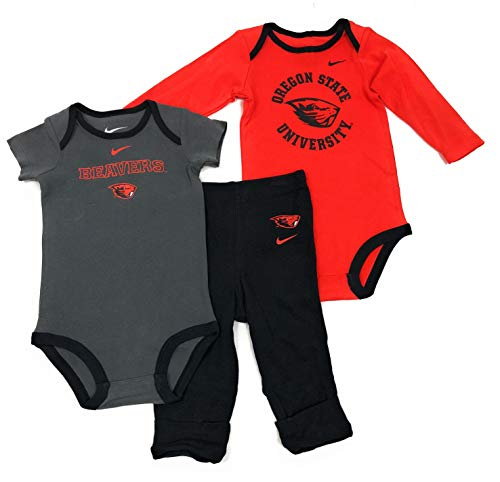 NIKE Oregon State Beavers Infant 3 Piece Creeper & Pant Set (24Months) ()