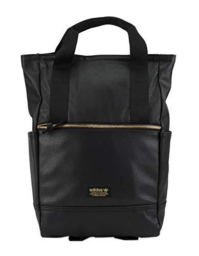 Premium Leather Backpack (adidas Originals Premium Tote Backpack, Black/Gold Lurex, One Size)
