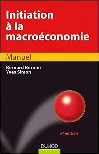 Amazon Fr Initiation A La Macroeconomie 9eme Edition