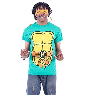 Mighty Fine TMNT Teenage Mutant Ninja Turtles Michelangelo Costume Green Adult T-shirt Tee (X-Large)