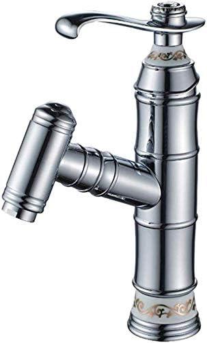 S-TING 蛇口 クロム洗面タップ真鍮セラミック板スプール拡張可能なノズル 水栓金具 立体水栓 万能水栓