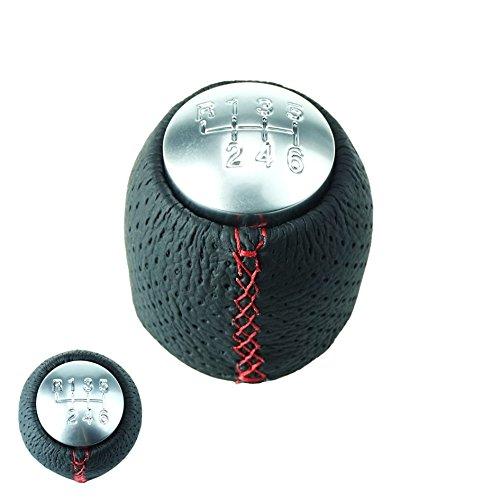 DoLED LEDER Schaltknauf Schalthebel in Schwarz//Carbon Look mit 5 Gang als Plug Play Ersatzteil