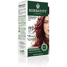 Herbatint Permanent Herbal Haircolor Gel, FF2 Crimson Red, 4.56 Ounce