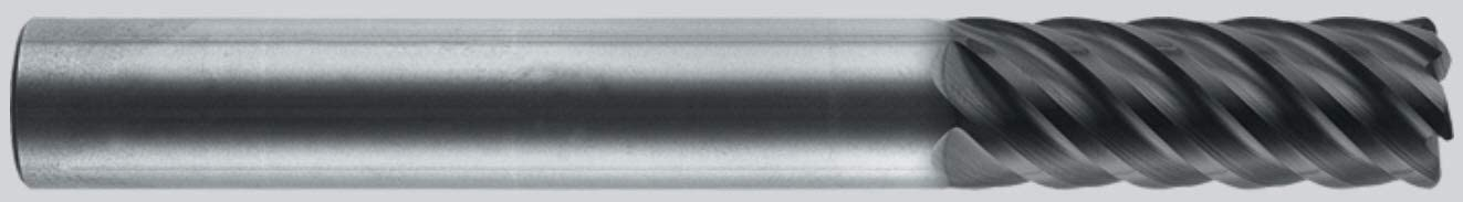 76 mm Overall Length AlTiN Coating 3.0 mm Shank Size Robb Jack 3.0 mm 4 Flute Solid Carbide Radius End Mill.04 mm Radius Center Cutting 9 mm Length of Cut Single End
