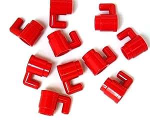 LEGO - Taza / vaso (10 unidades), color rojo