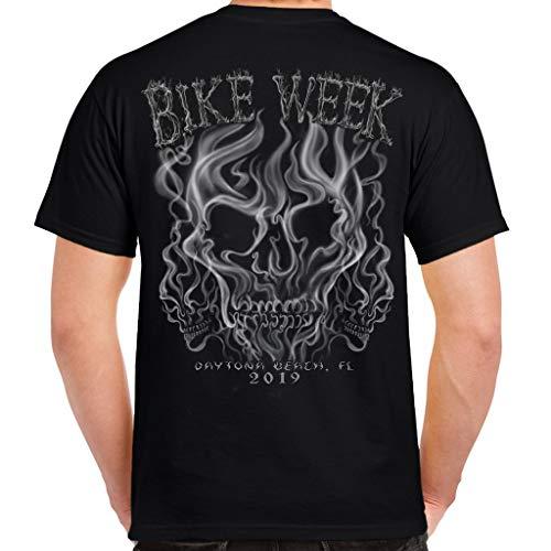 Biker Life Clothing 2019 Bike Week Daytona Beach Smoke Skull T-Shirt
