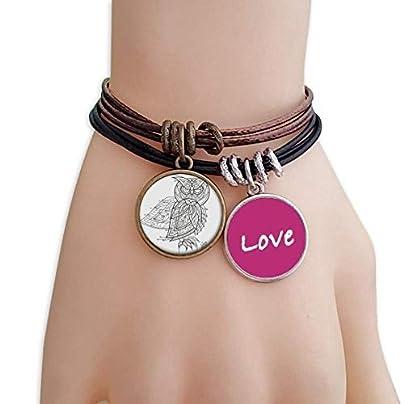 Bird Paint Flying Line Black Love Bracelet Leather Rope Wristband Couple Set Estimated Price £9.99 -
