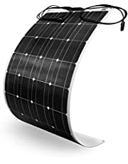 Green Cell (100W 12V 18V) ETFE Flexibele Zonnepaneel Solar GC Monokristallijn Solarpanel Fotovoltaïsch Module Cel voor 12V Accu, Boot, Auto Camper, Caravan, Toits, RV met MC4 Connector