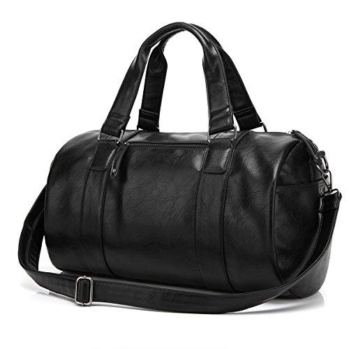 BAOSHA Leather Handbag Travel Weekender