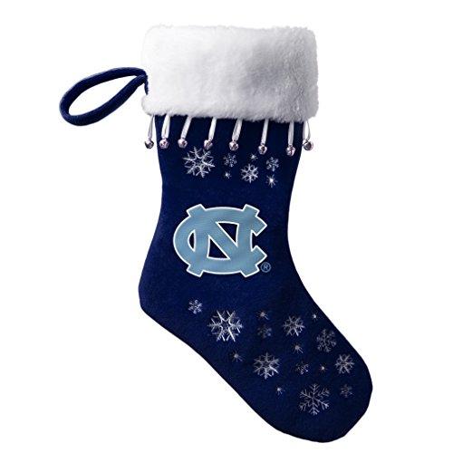 - NCAA North Carolina Tar Heels Full Embroidered Snowflake Stocking