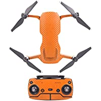 Hobby Signal Waterproof PVC Carbon Grain Stickers Carbon Graphic Skin Full Set Drone Body Battery Remote Controller Decals for DJI (Orange)