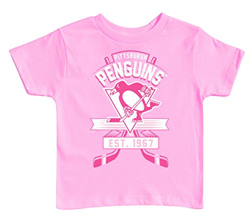 NHL Pittsburgh Penguins Kids Tee, 3 Tall, Pink