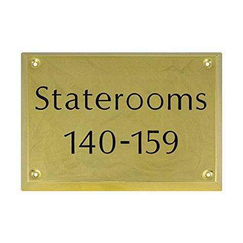 "(Prestige Plaques Personalized Plaque, Solid Brass, Deep Engraved, 8"" x 5.75"" )"