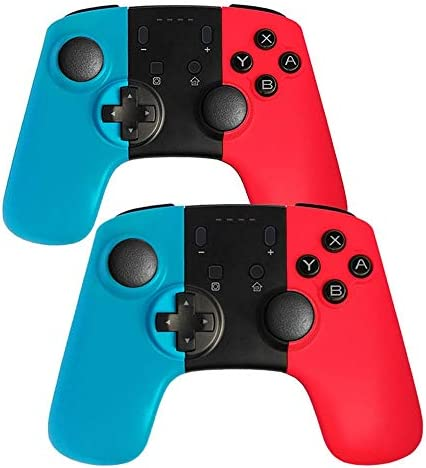 MQQ は、コンソールスイッチのための6軸誘導モバイルゲームコントローラワイヤレスリモートコントローラープロジョイパッドゲームパッド (Color : 1 set)