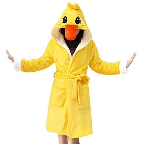 Lifeye Animal Duck Bathrobe Kids and Adult Robes Pajamas Night Gown Yellow -