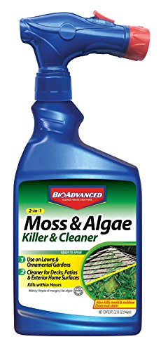 BioAdvanced 704710B Moss and Algae Killer Ready-to-Spray, 32 oz, (Best Moss Killer For Patios)