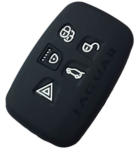 Rpkey Silicone Keyless Entry Remote Control Key Fob Cover Case protector For 2010 2011 2012 2013 Jaguar XJ 2010 2011 Jaguar XJL 2009 2010 2011 2012 2013 2014 Jaguar XF