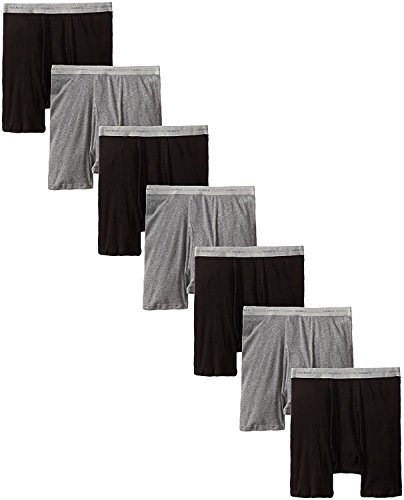 byHanes Hanes Mens Boxer Brief with Comfort Flex Waistband (2349B7) (Black/Grey - 7 Pack, XXX-Large)