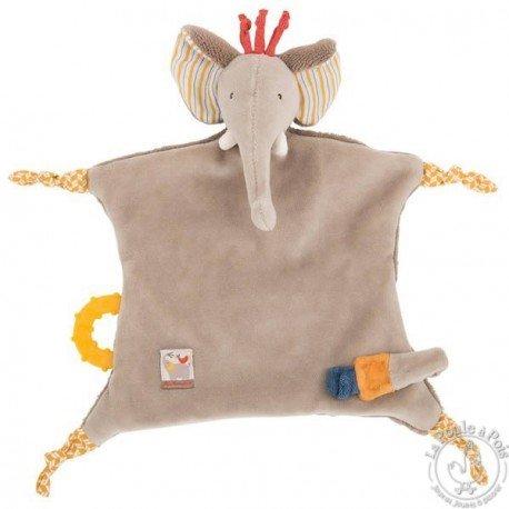 Moulin Roty Elephant Pacifier lovey Les Papoum