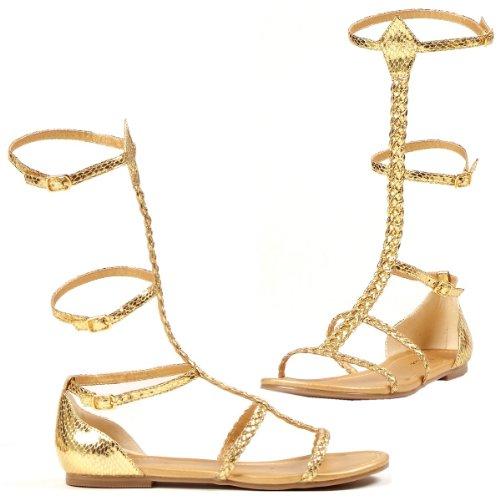 Ellie 015-cairo 0 Sandalo Piatto Gladiatore Donna, Oro, Taglia 11