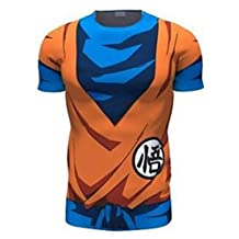 Jinmen Men's Fashionable Short Sleeve Lifelike Dragon Ball 3D Creative T-Shirts
