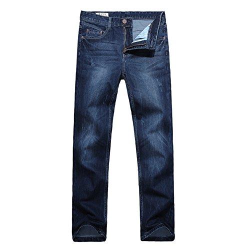 Oberora-Men Casual Loose Straight-Leg Jeans Wide Leg Palazzo Denim Pants
