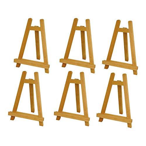 (U.S. Art Supply Carmel 10-1/2 inch Tall Tabletop Wood Display Artist A-Frame Easel (6-Easels))