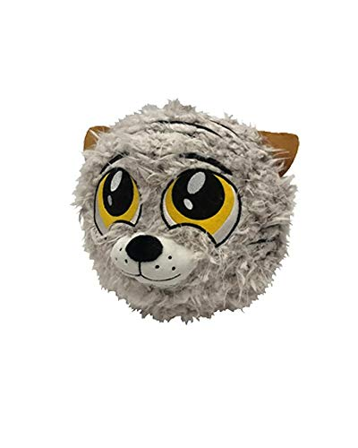 Petlou PETLOVE Fuzzy Tiger Ball, 9 Inch, Cute Dog Toy with Grunter