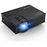 APEMAN Video Mini Projector LCD LED Portable Multimedia Home Cinema for 2018 World Cup Support 1080P HDMI, VGA, USB, SD Card, AV Input, Audio Output for Video Game TV Box Backyard Movie Theater