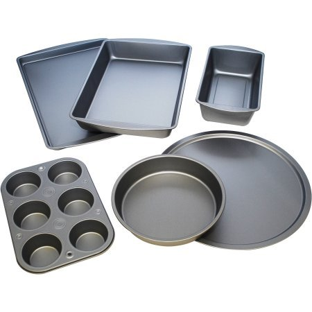 BakerEze 6-Piece Non-stick Bakeware Set Black