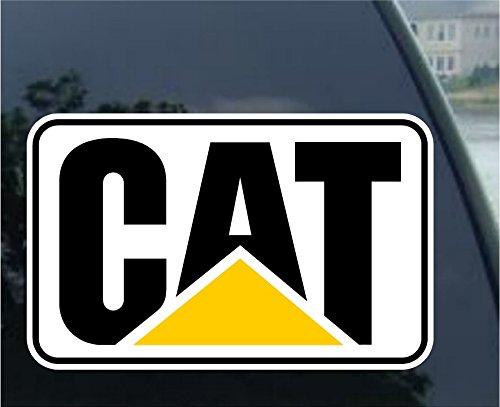 Crawford Graphix CAT Stickers Decals Hard Hat Toolbox Diesel Bull Dozer Escavator Backhoe Loader (4