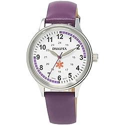 Dakota Nurse Leather Casual Purple Women's Watch(Model: 53925)