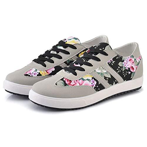Zapatos Mujeres Negro Zapatillas Casuales Mujeres Lona 4qqxOpP
