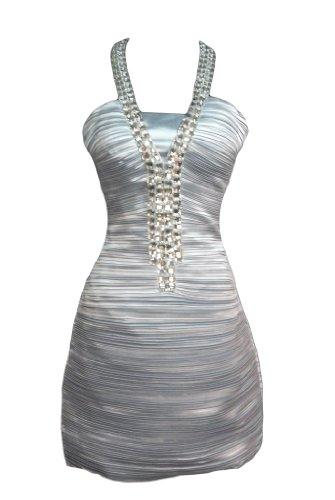 Silber Fashion Alivila Y Damen Kleid xIyqaBO