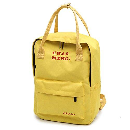 Shoulder Vintage Oxford Backpack Cloth Elegant Phone College Bags Handbags Purse Byste Retro Yellow Bag Girls Travel Satchel School Holiday Student Letter Tote EwXSnvW6q